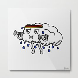 Super Sweaty Cloud Metal Print