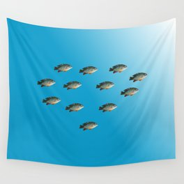 Green Sunfish Wall Tapestry