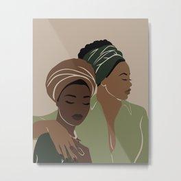 Two beautiful black women Metal Print