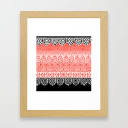 crochet lace in red Framed Art Print
