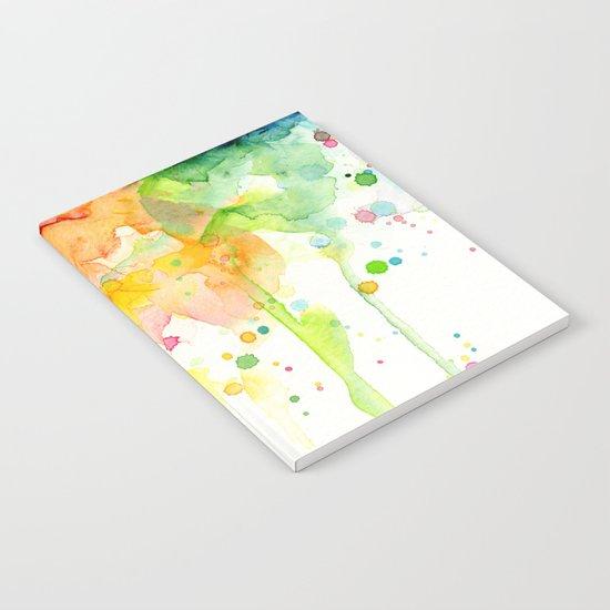 Rainbow Watercolor Pattern Texture Notebook