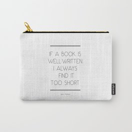 Jane Austen Quote Carry-All Pouch