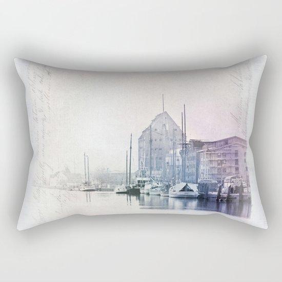 Northern Harbor Greifswald Baltic Coast Germany Rectangular Pillow