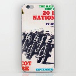 Vintage TT Race Poster iPhone Skin