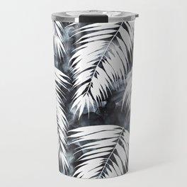 Maui Palm Black and White Travel Mug