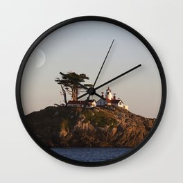 Battery Point Lighthouse at Sunset .2 Wall Clock