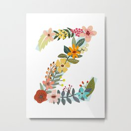 Monogram Letter Z Metal Print