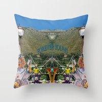 forever young Throw Pillows featuring Forever Young by CrismanArt