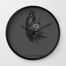 Floating Viking Wall Clock