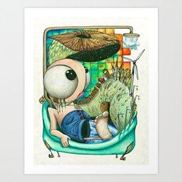 Infra bearth Art Print