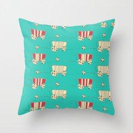 wozy_turq Throw Pillow