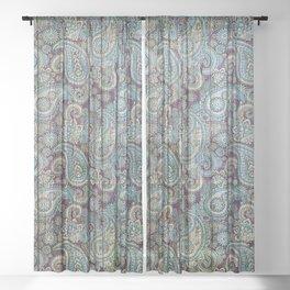 Kashmir on Wood 06 Sheer Curtain