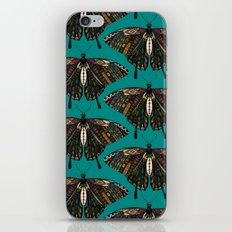 swallowtail butterfly teal iPhone & iPod Skin