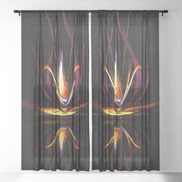 Abstract perfection - Magical Light and Energy Sheer Curtain