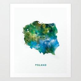 Poland Art Print