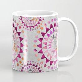 Mandala Pattern in warm shades of orange and pink Coffee Mug