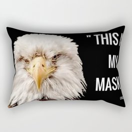 """""""This Is My Mask!""""  Eagle Rectangular Pillow"""