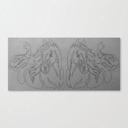 Mirrored Contour Canvas Print