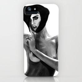 Don Lebon - Breathe Girl With Frame iPhone Case