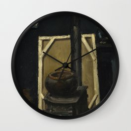 Paul Cezanne - The Stove in the Studio Wall Clock