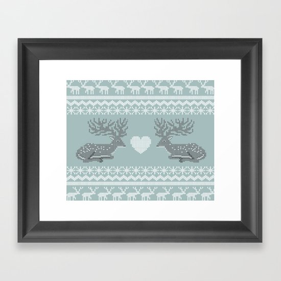 Dear & Love Framed Art Print