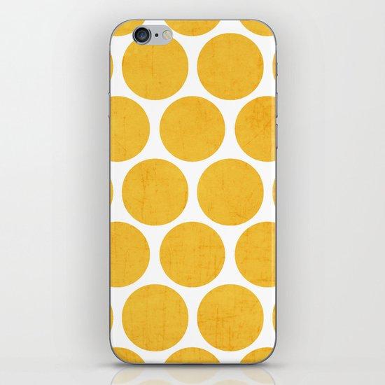 yellow polka dots iPhone & iPod Skin