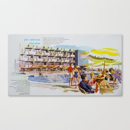 1950's Retro Hotel Wildwood Rendering,  Wildwood, New Jersey Canvas Print