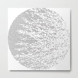 Planet Surface Circle Metal Print