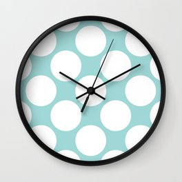 Polka Dots Blue Wall Clock