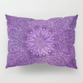 star mandala deep in the dark purple dream Pillow Sham
