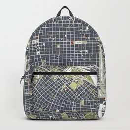 Buenos aires city map engraving Backpack