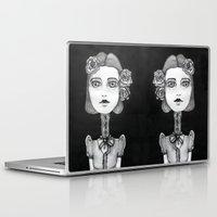 mia wallace Laptop & iPad Skins featuring Mia by Sandra Karlsson