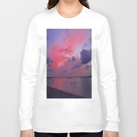 Swimming Towards Sundown Long Sleeve T-shirt