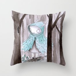 Wild girl Throw Pillow