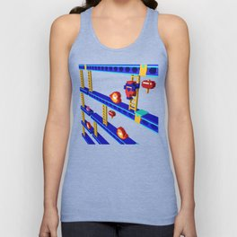 Inside Donkey Kong stage 4 Unisex Tank Top