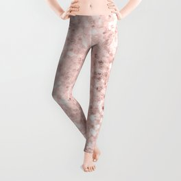 She Sparkles Rose Gold Pastel Pink Luxe Geometric Leggings