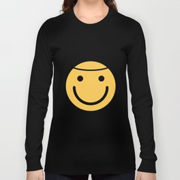 Smiley Face   Halo Holy Smiling Face Long Sleeve T-shirt