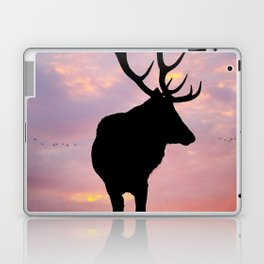 Stag And Sunset Laptop & iPad Skin