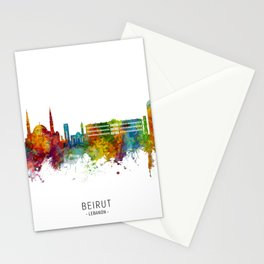 Beirut Lebanon Skyline Stationery Cards