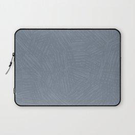 Light Slate Gray Marks Laptop Sleeve
