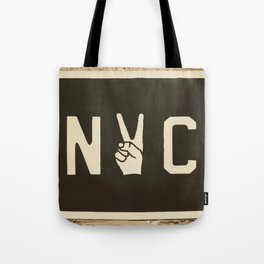 NYC Peace Sign (Color) Tote Bag