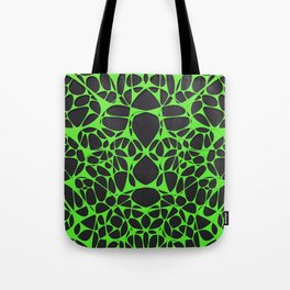 Green on black, organic abstraction Tote Bag
