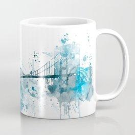 Toledo Monochrome Blue Skyline Coffee Mug