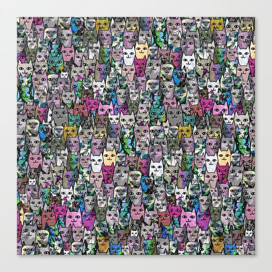 Gemstone Cats CYMK Canvas Print