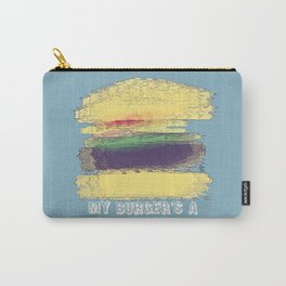 Veggie Burger (blue) Carry-All Pouch