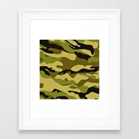army Framed Art Prints featuring ARMY by Sophie