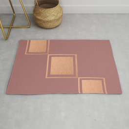 RoseGold: Minimalist + Pink Rug