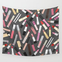 Lipstick Party - Dark Wall Tapestry