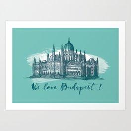 Budapest No. 4. Art Print