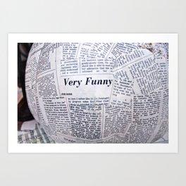 NewsPapier-mâché Art Print